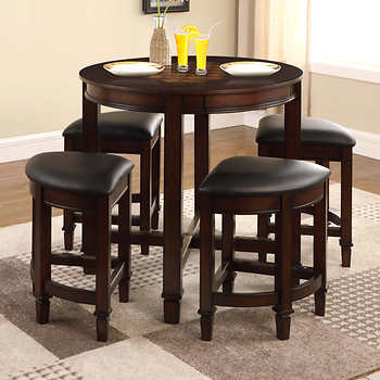 Furniture 5-Piece Counter Height Dining Set